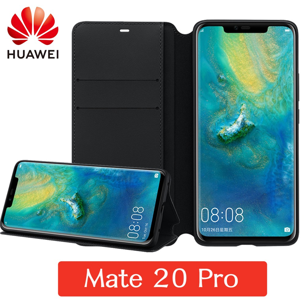 HUAWEI Mate20 Pro 原廠翻頁式皮套(黑)