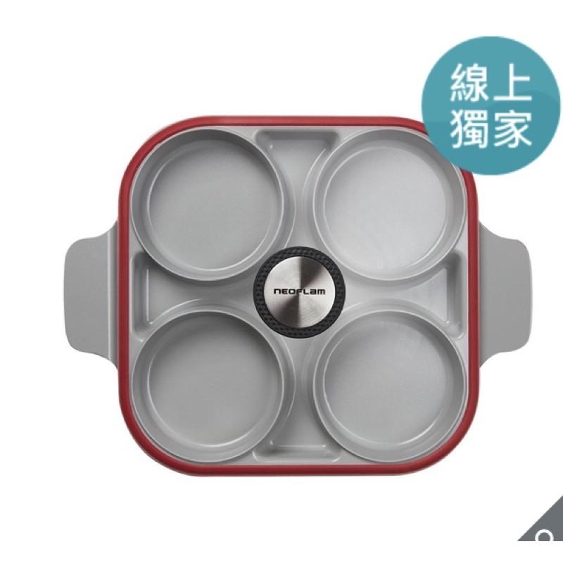 [代購] Neoflam 雙耳四格多功能煎鍋含蓋 28 公分