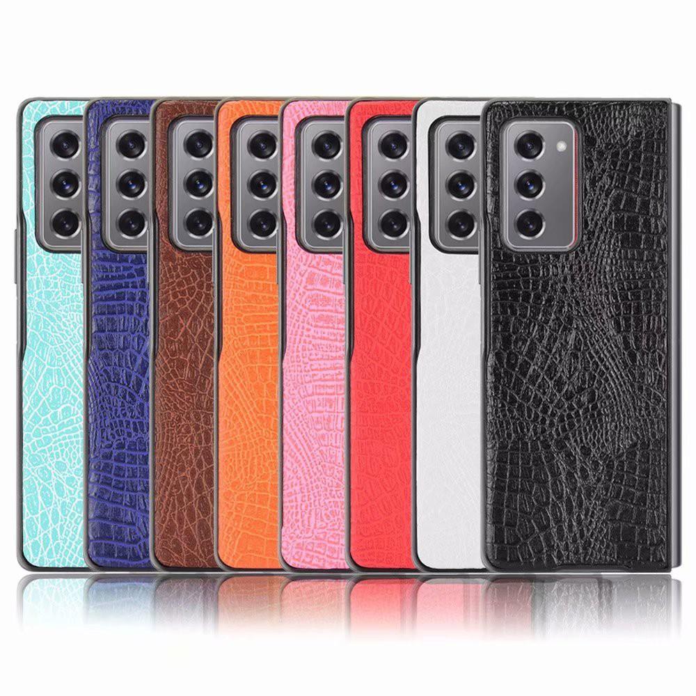 Samsung Galaxy Z Fold2 5G 皮革保護殼摺疊分離硬殼超薄保護殼鱷魚紋貼皮保護套