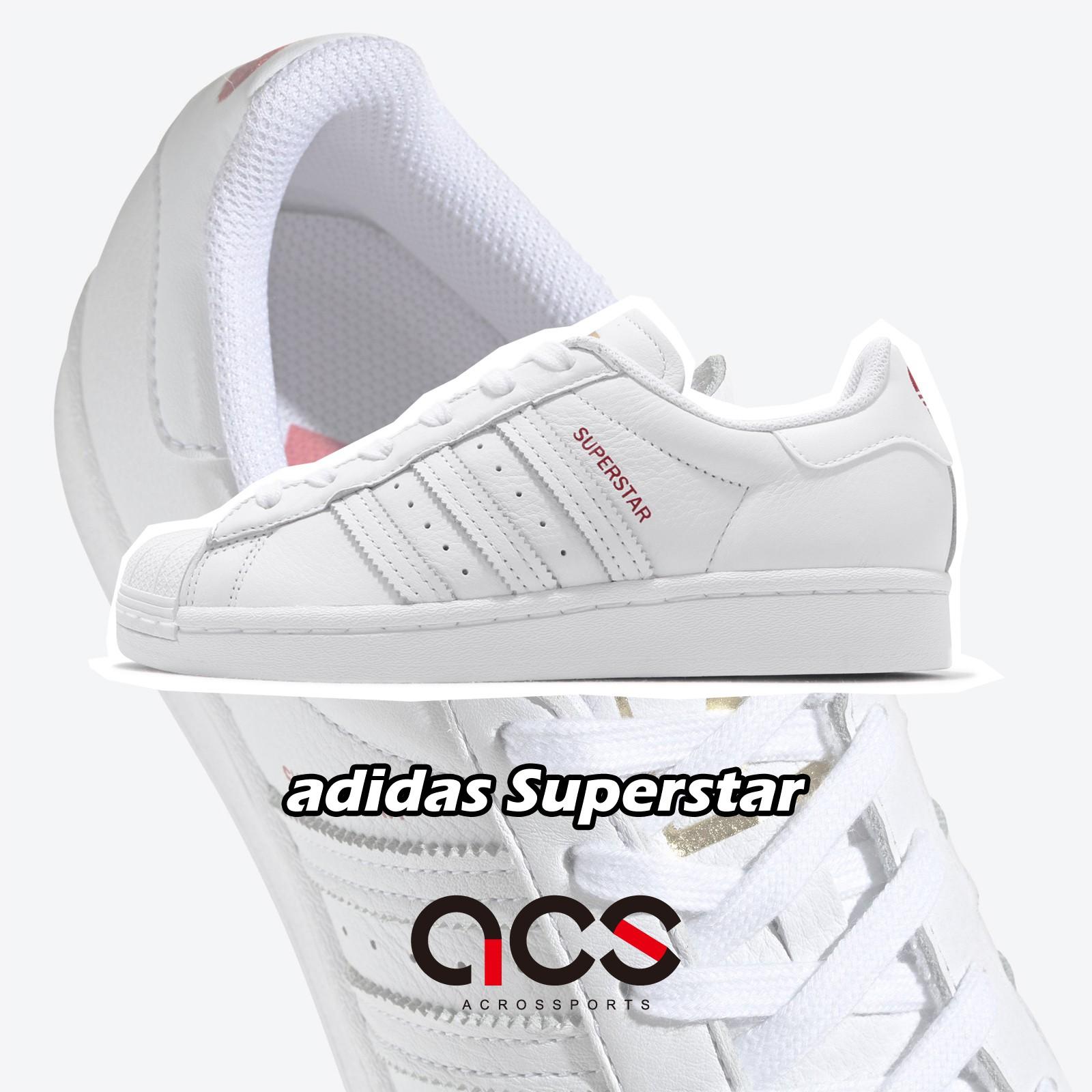 adidas 休閒鞋 V-DAY Superstar 情人節 金標 愛心 小白鞋 白 紅 女鞋 FX1203 【ACS】