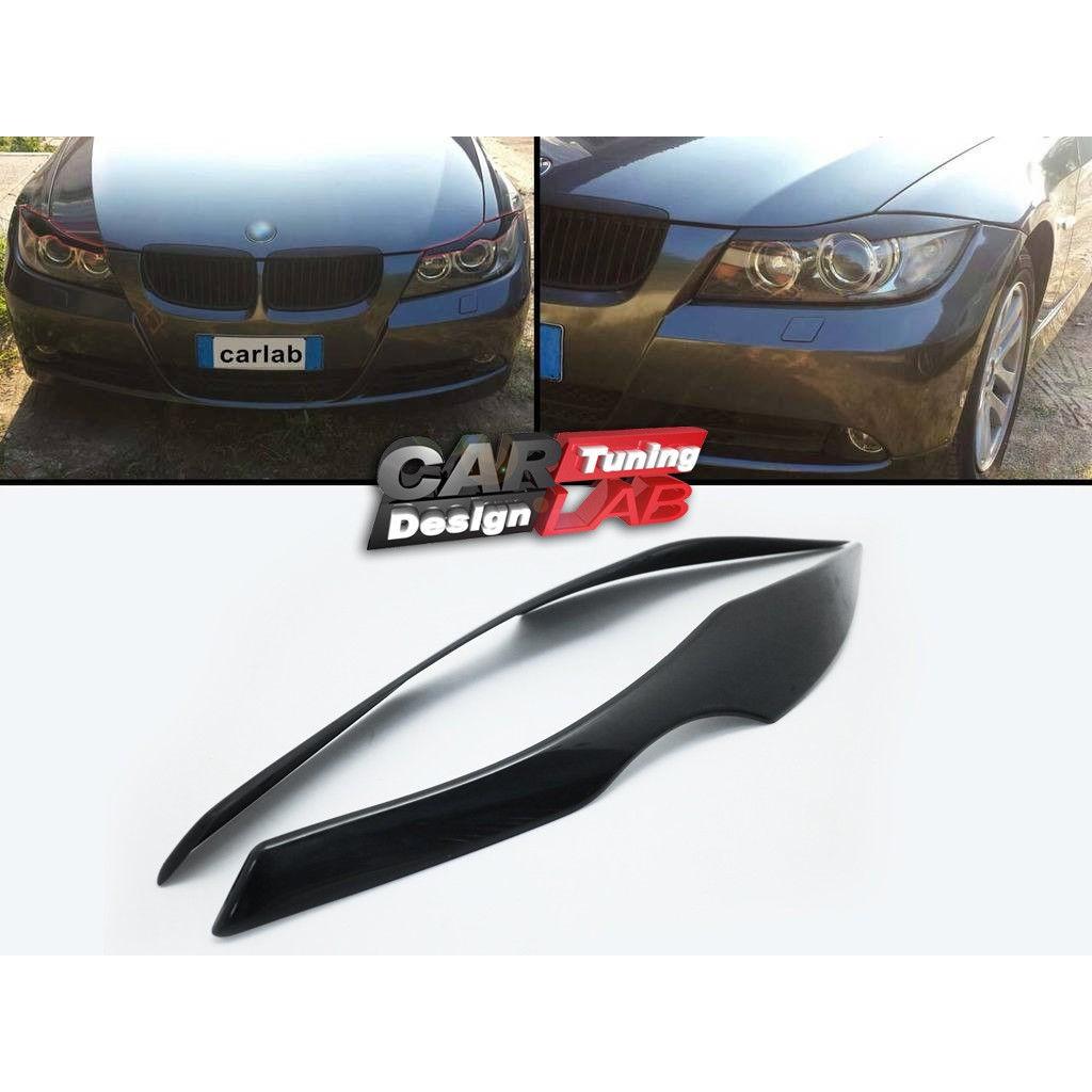 大燈眉毛頭燈框 無烤漆 適用 2005-2009 BMW(寶馬) E90 E91