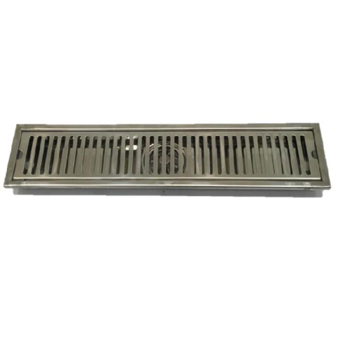 Cozy衛浴 台灣製304不鏽鋼集水槽 10X30公分 地板落水頭 排水版 防蟲防臭防髮絲