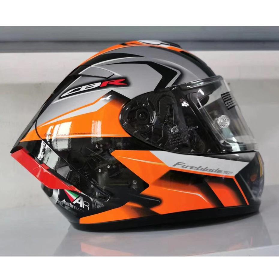 日本進口SHOEI X14摩托車頭盔防霧全盔四季賽車盔 安全帽 機車帽 男女通用 本田威爽版花 全罩#安全帽