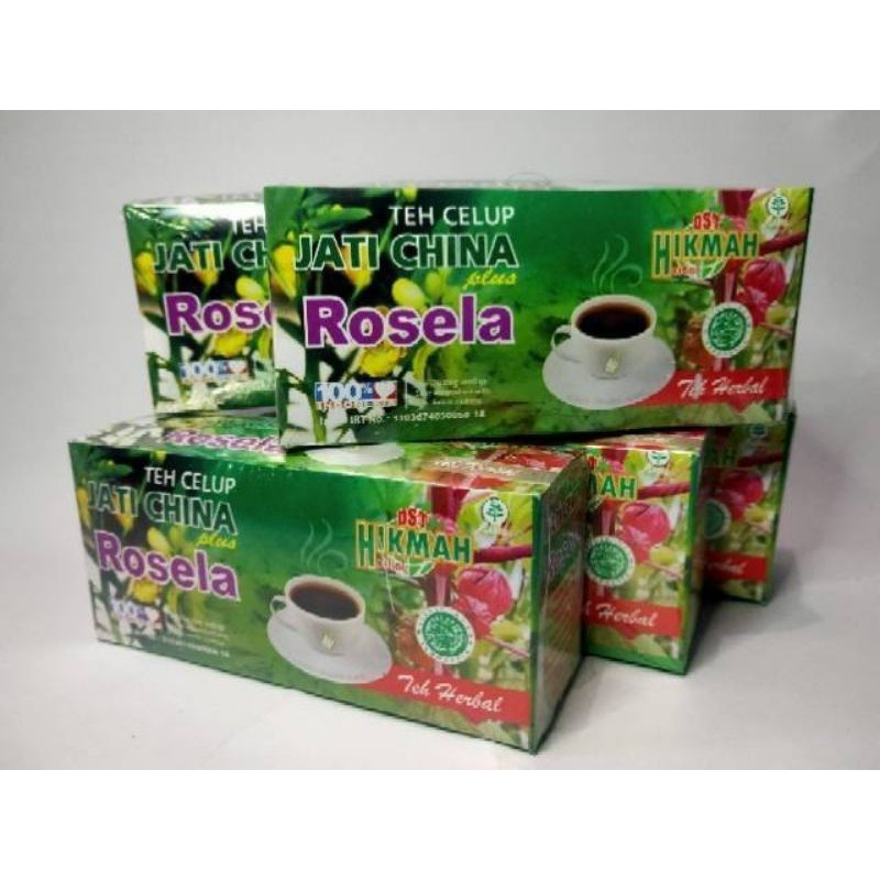 Teh Herbal Jati Cina plus Rosella100% ORIGINAL