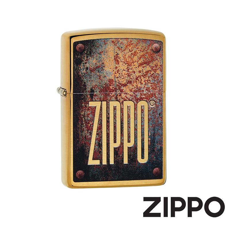 ZIPPO 鏽刻鐵牌防風打火機 美國設計 29879