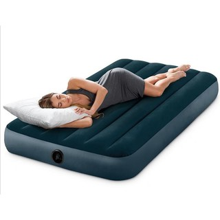 【一露遊你】買床送枕 INTEX 64732 雙人植絨充氣床 露營氣墊床 居家或飯店加床 休閒床墊 睡墊 99公分 宜蘭縣