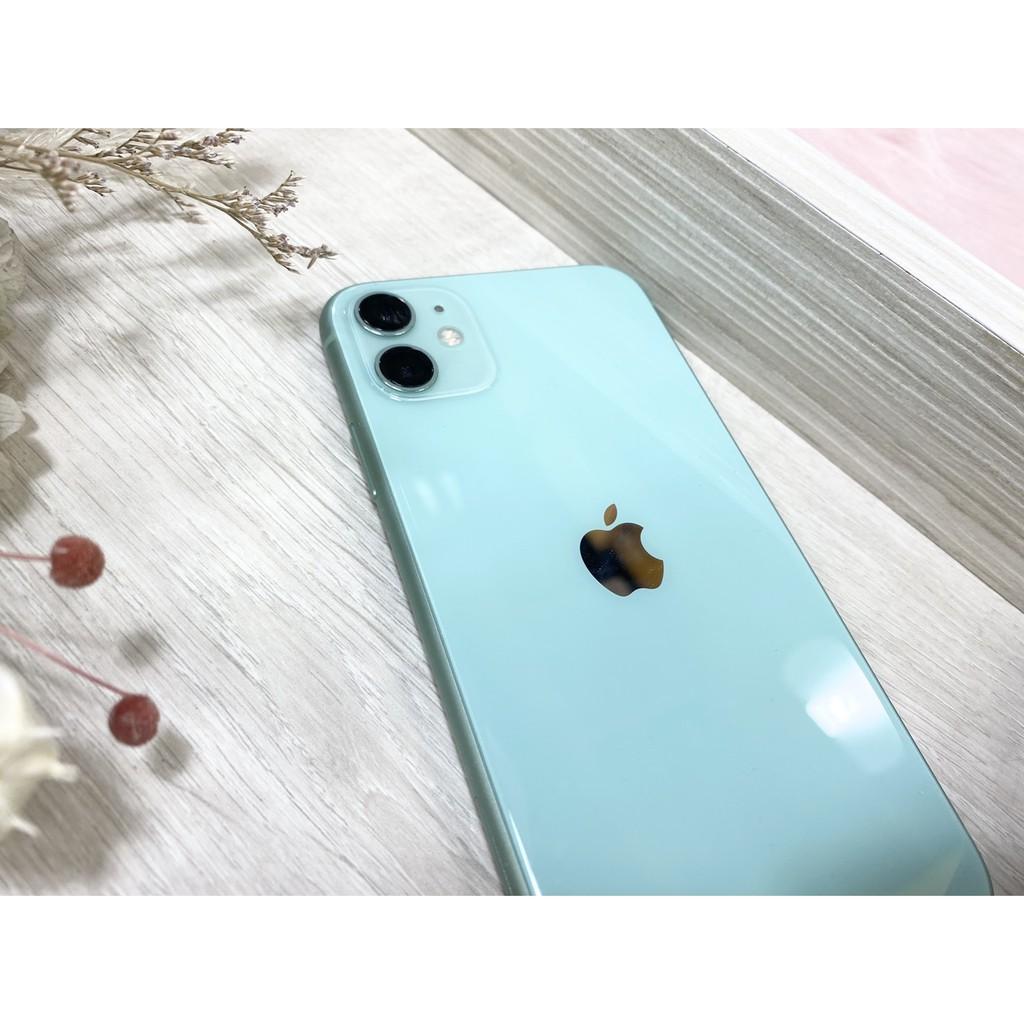 二手🍎蘋果iPhone  11 128G 綠色單機附配件手機📱