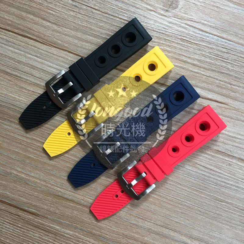 限時特賣適配Breitling百年靈硅膠表帶復仇者橡膠手表帶22 24mm黑鳥偵察機z32