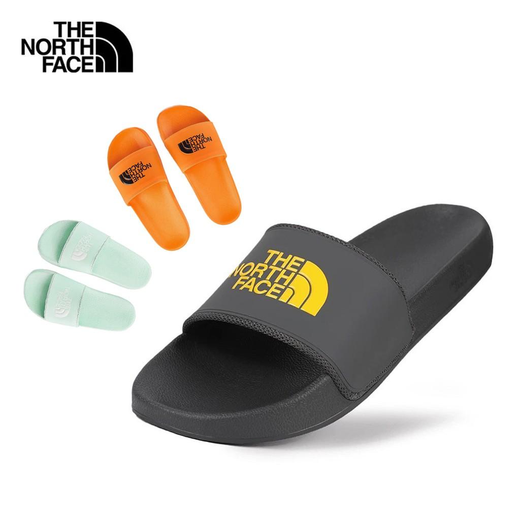 The North Face北臉 輕便LOGO炫色休閒拖鞋 男款零碼 LOGO潮流黑/薄荷綠/鮮橘色