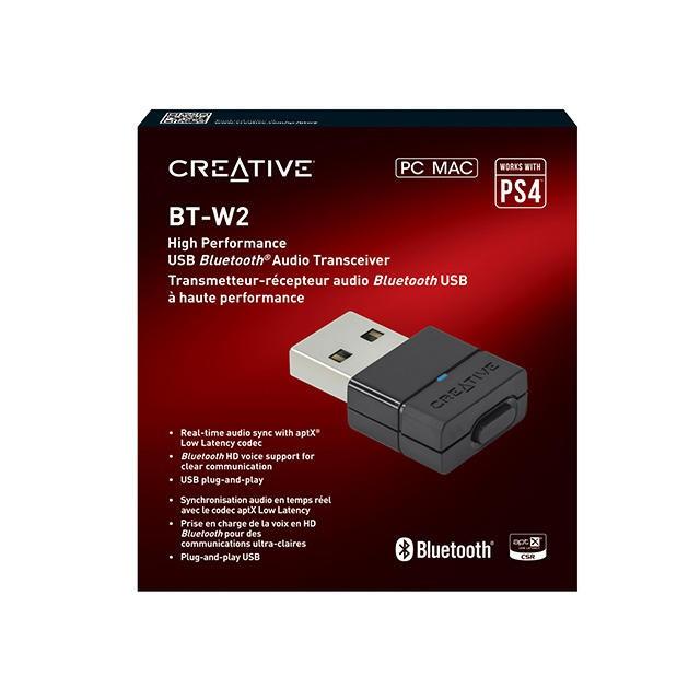 CREATIVE BT-W2 藍牙音效發射器 接收器 藍芽 PC PS4 SWITCH NS MAC 【台中恐龍電玩】