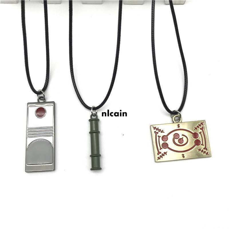 新品鬼滅之刃鬼符笛子標志金屬項鏈創意時尚男女學生簡約鏈子飾品