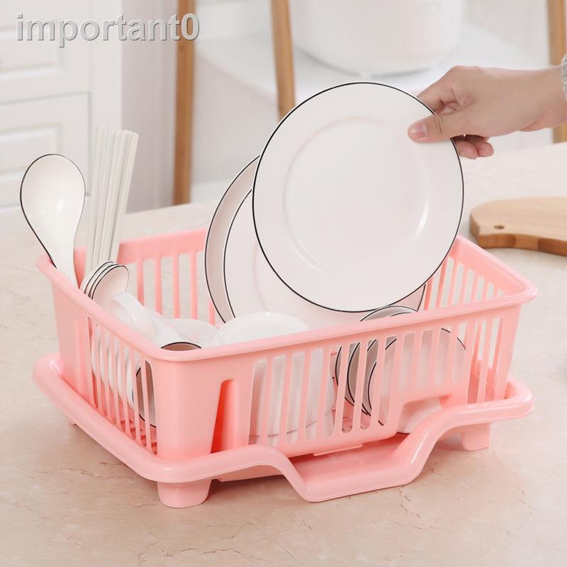【鑫達百貨】-瀝水碗架廚房碗碟置物架瀝水架塑料漏水盤架瀝碗架濾水晾放碗筷架