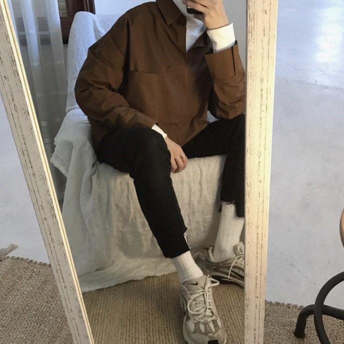 (BEIKENT&肯特先生) 韓系INS高領假兩件襯衫 五色