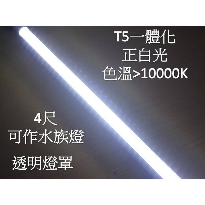 LED水族燈 4尺(120公分) 水草燈 增豔燈 魚缸燈  透明罩 白光13000K