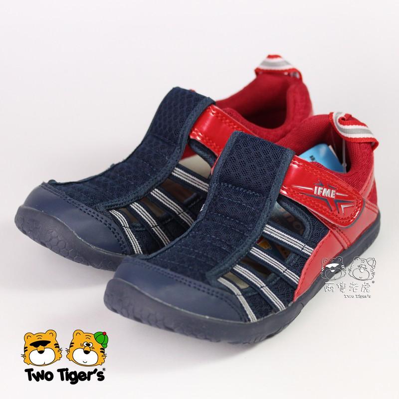 日本 IFME Water Shoes 排水涼鞋 紅藍 中童鞋 NO.R3859