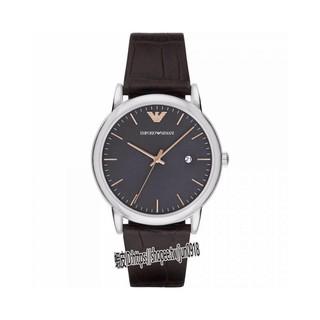 美國直郵Armani阿曼尼手錶 黑色真皮錶帶 簡約日曆黑盤休閒腕錶 男士時尚紳士石英錶 AR1996 彰化縣