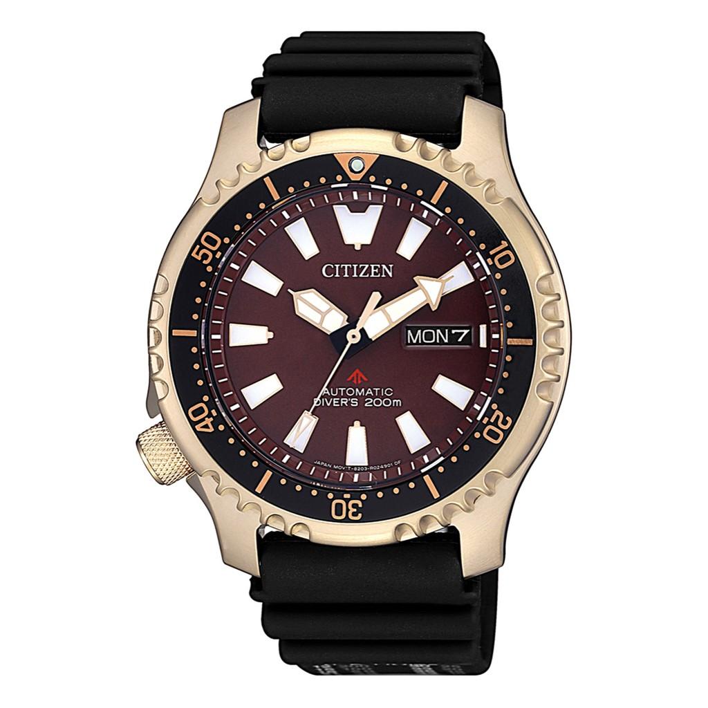 CITIZEN 星辰 PROMASTER 咖啡色海洋潛水運動機械腕錶(NY0083-14X)。
