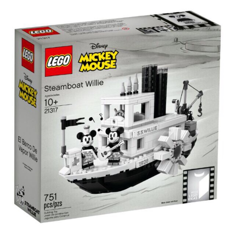 樂高 LEGO 21317 米奇 汽船威利號 IDEA'S 系列 Steamboat Willie 現貨 聖誕禮物