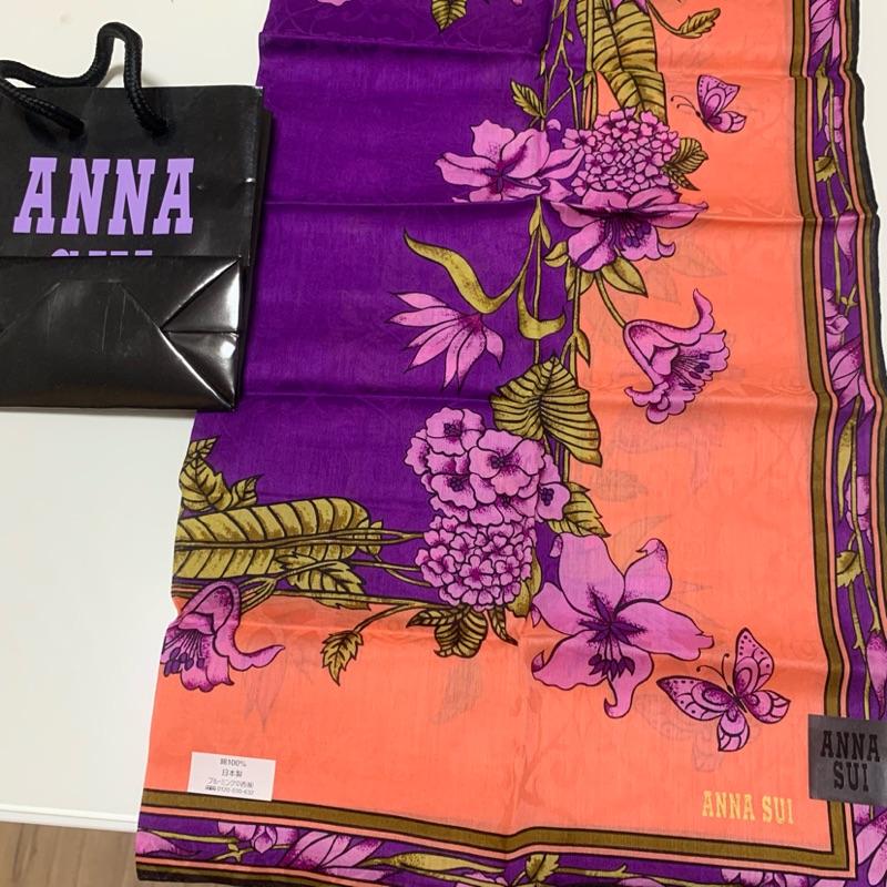 全新 ANNA SUI 絲巾 包包提把裝飾