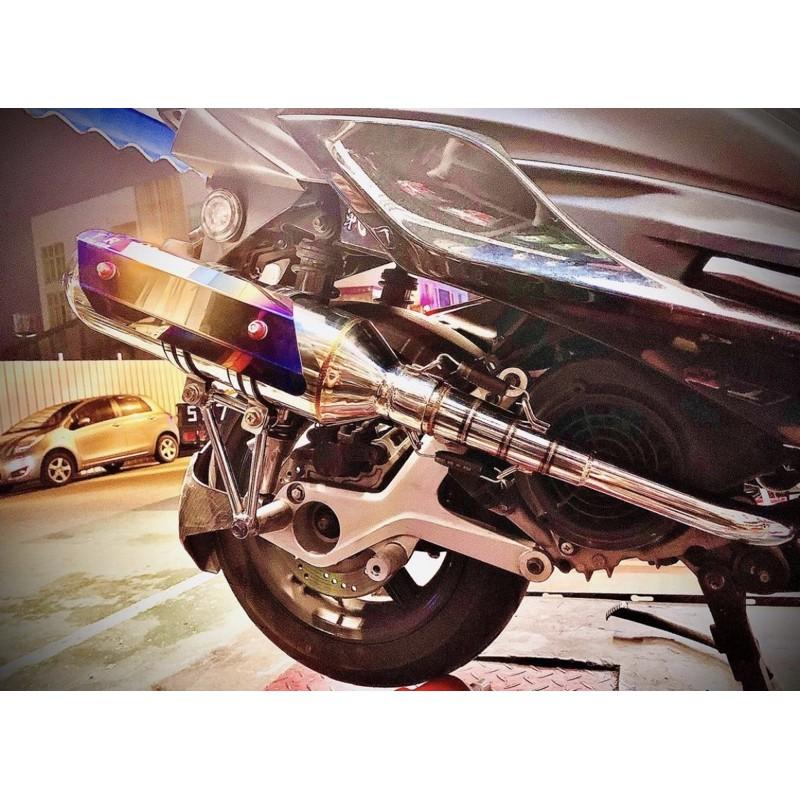 TR手工白鐵側繞回壓加速管 兩段分離式 低調聲音飽滿  二手 近全新 勁戰 勁戰四代 勁戰五代 BWSR