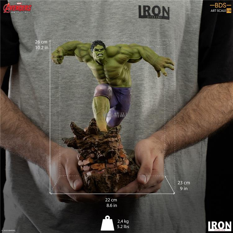 Iron Studios MARCAS31820-10 1\/10 復聯2 綠巨人Hulk浩克 雕像 初訫精品站