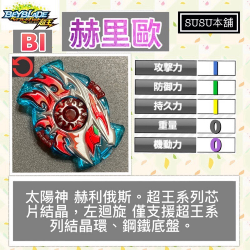 【Susu本舖】戰鬥陀螺 爆烈世代 超王 赫里歐 Bl芯片結晶 拆售系列 B160 B162
