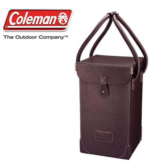 Coleman 美國 手工牛皮紀念燈盒 收納袋 提箱 燈袋 CM-9107 綠野山房