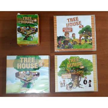 【比價達人】二手~ 何嘉仁 tree house 3 / tree house 4 CD(A,B片)字卡
