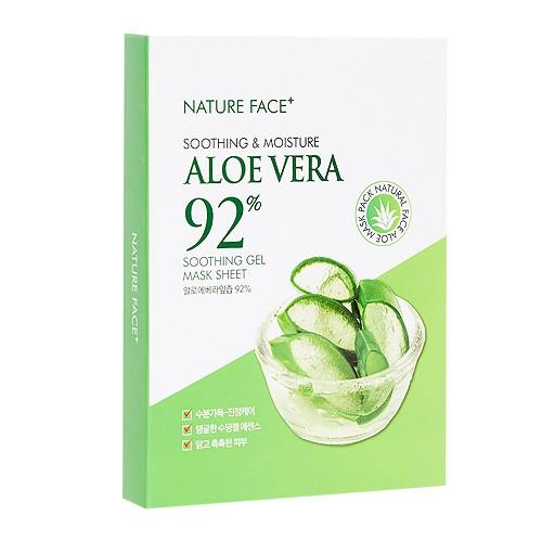 韓國 Nature Face 92%蘆薈舒緩保濕面膜(5片入)【小三美日】D545553