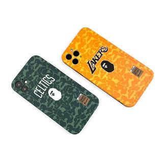﹊潮牌BAPE湖人iPhone12手機殼11Promax直邊軟殼8Plus科比蘋果XR男7