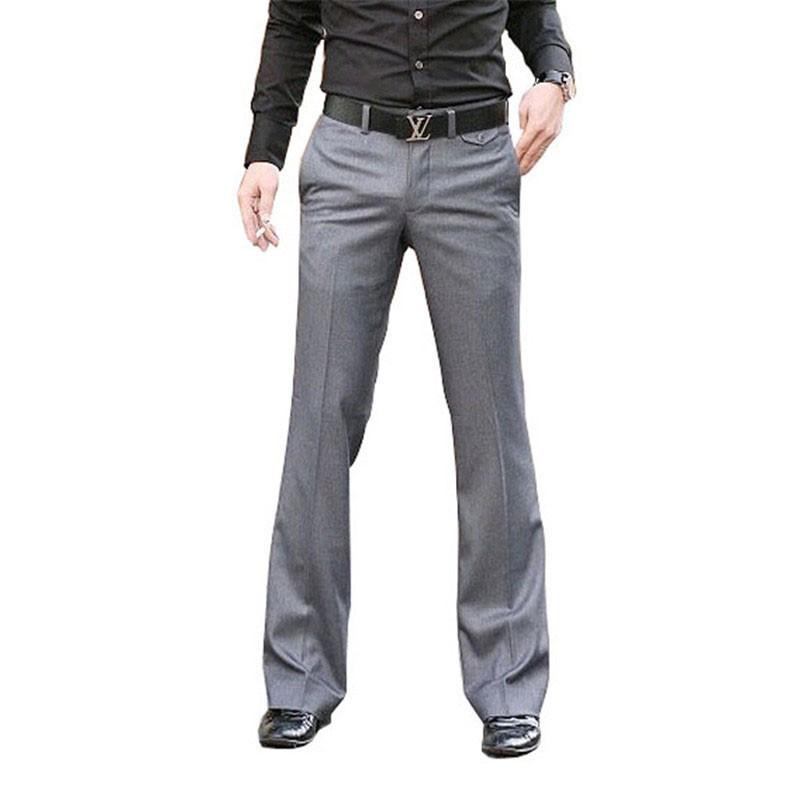 男士西裝褲 商務灰色闊腳西裝褲 英倫休閒男士大腳褲 伴郎西裝褲