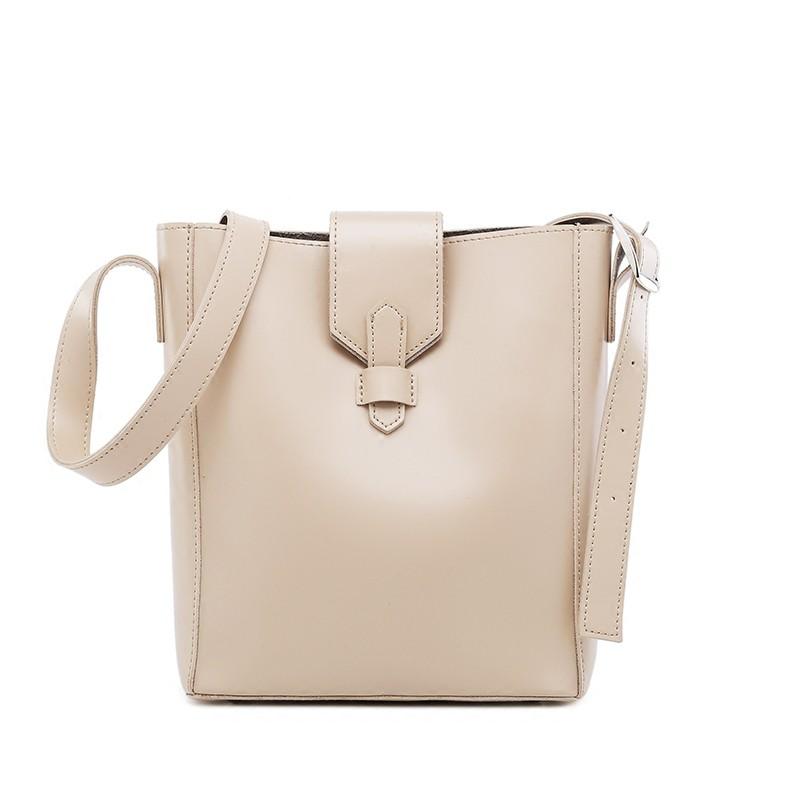 水桶包女2020新款韓版簡約百搭大容量單肩包斜背包包休閒子母包潮