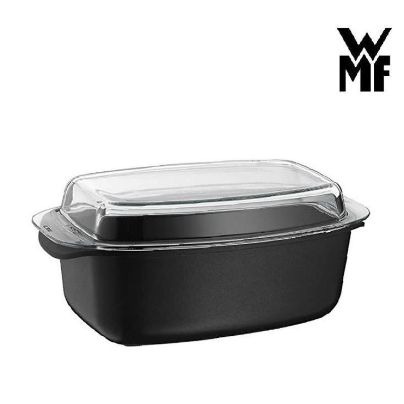 德國 WMF玻璃附蓋大容量烤/炒/燉鍋 多功能烤盤破璃鍋,蒸魚/烘培 /玻璃蓋可當擺盤
