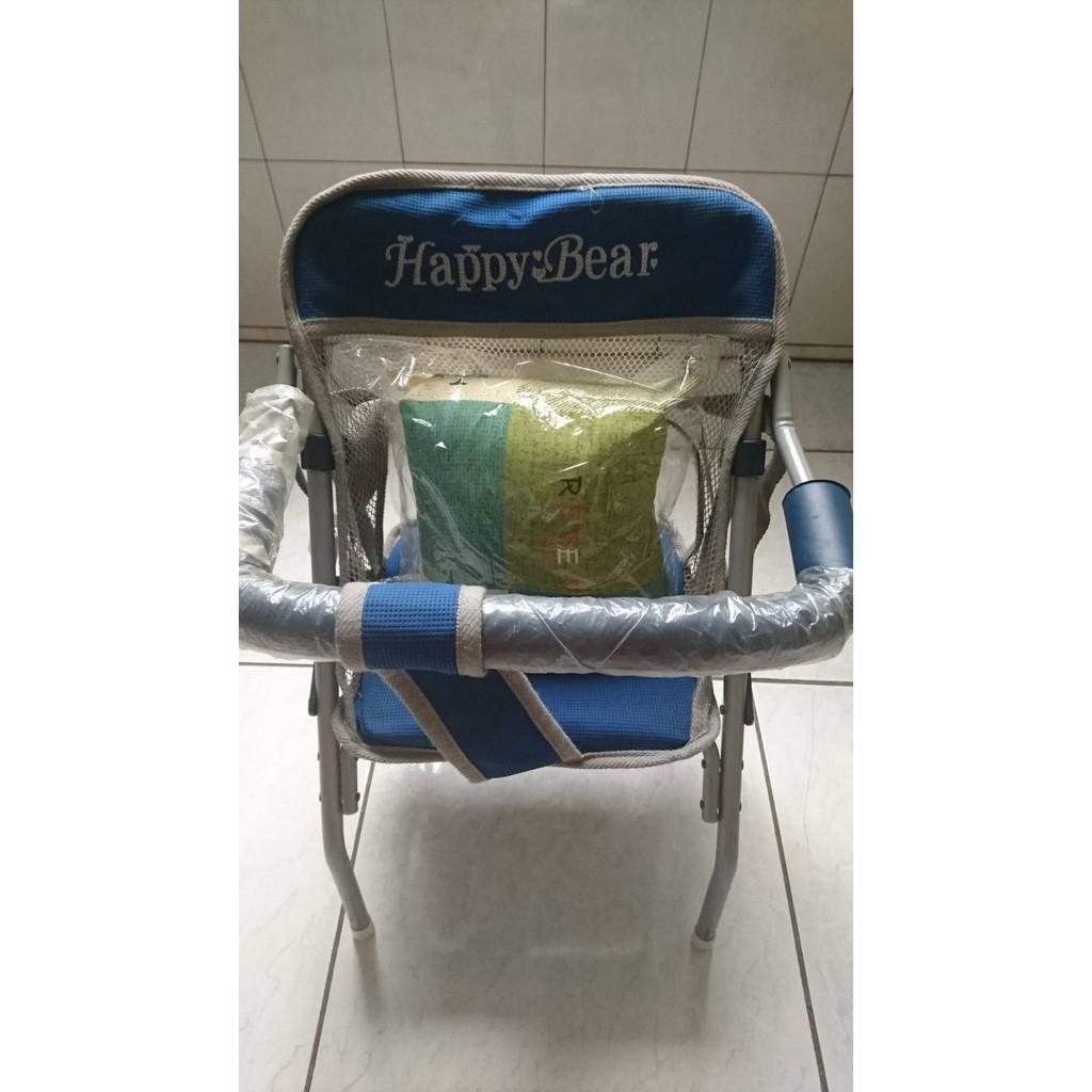 Happy Bear快樂熊/嗨皮熊  5段式機車椅(8成新,附小枕頭)*蜂巢網眼透氣布* 雙安全帶