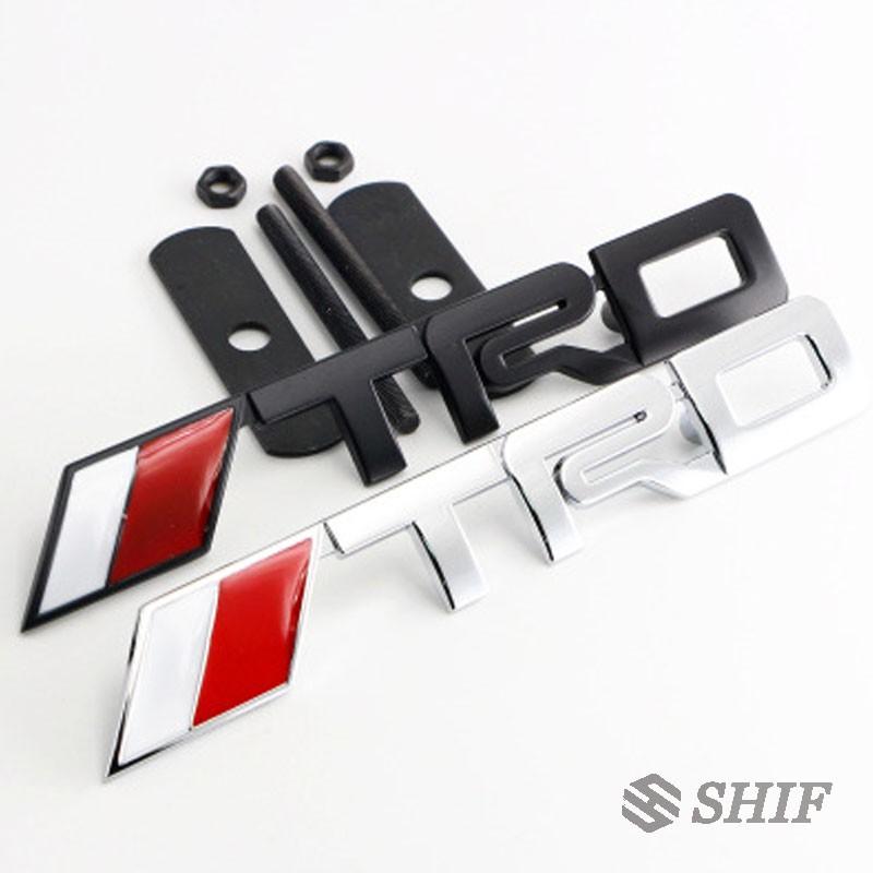 1 X Metal TRD徽標標誌前格柵格柵標誌貼紙貼紙適合豐田