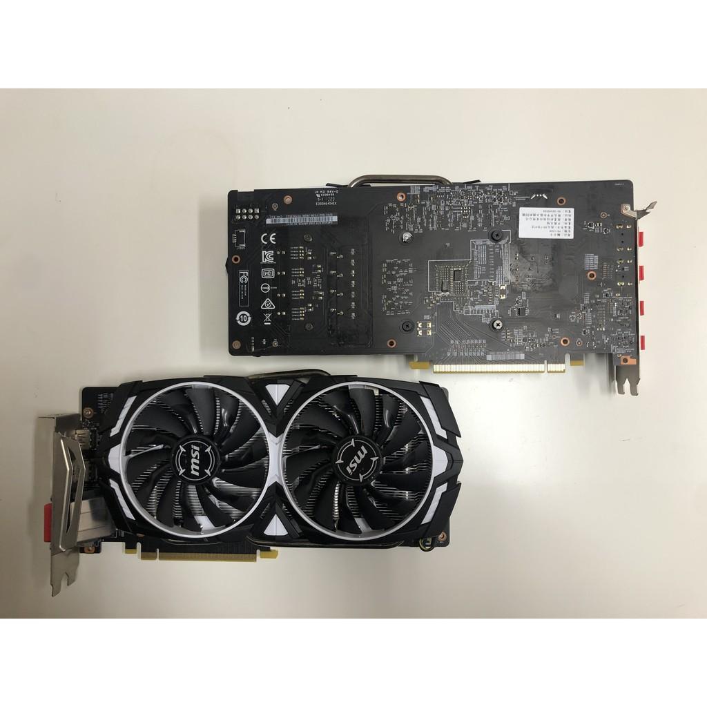微星 MSI GTX1060 ARMOR 3G OCV1 顯示卡,二手良品