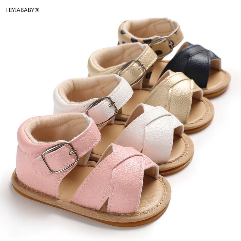 0-1歲女寶寶膠底防滑涼鞋嬰兒學步鞋寶寶鞋子