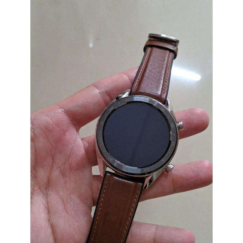 [售] 二手 華為 HUAWEI WATCH GT智慧手錶 46mm 皮革馬鞍色 台版公司貨