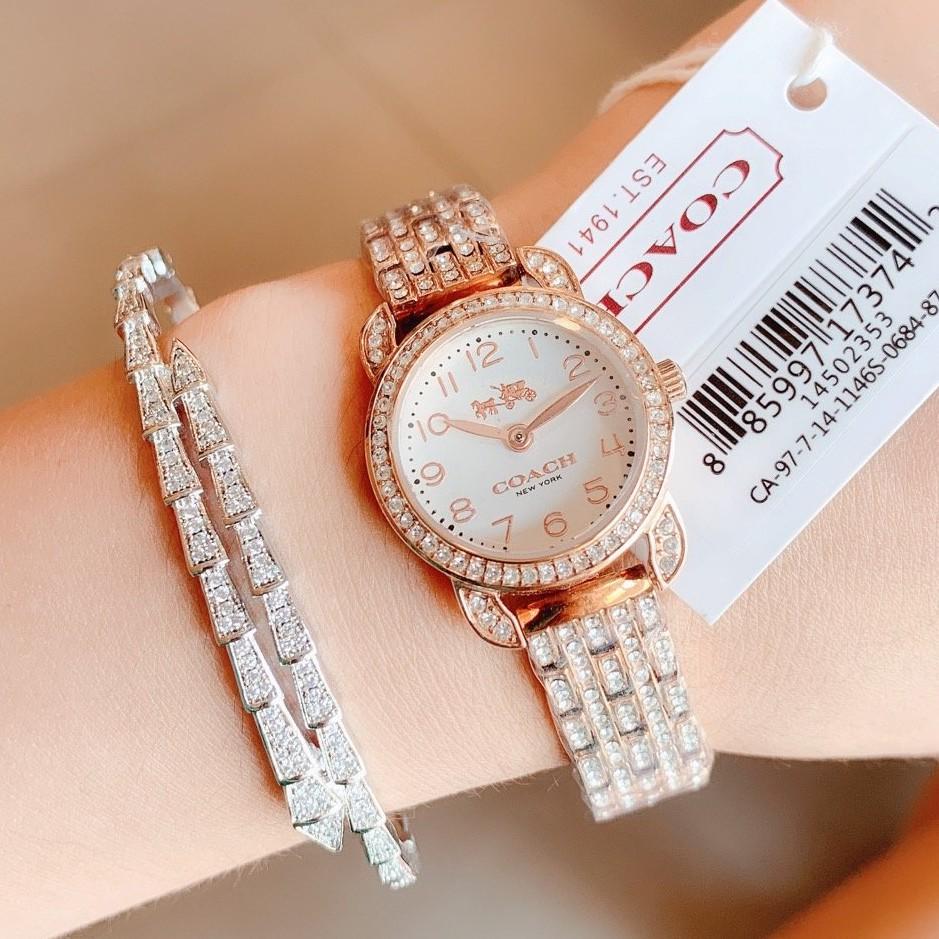 實拍 COACH 手錶女 蔻馳女錶 石英手錶 鑲鑽手錶 輕奢時尚 coach手錶