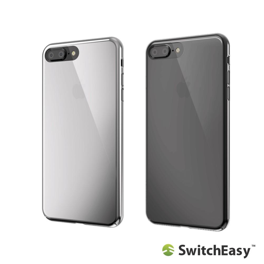 SwitchEasy iPhone 7 Plus /iPhone 8 Plus 5.5吋Nude透明金屬感保護殼廠商直送