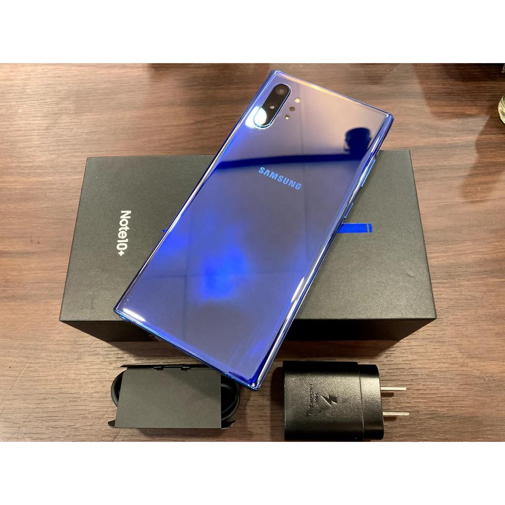 [全亮]SAMSUNG NOTE10+12G/512G 星環藍 二手/中古機 9.99新 原廠延保至2021/12/19