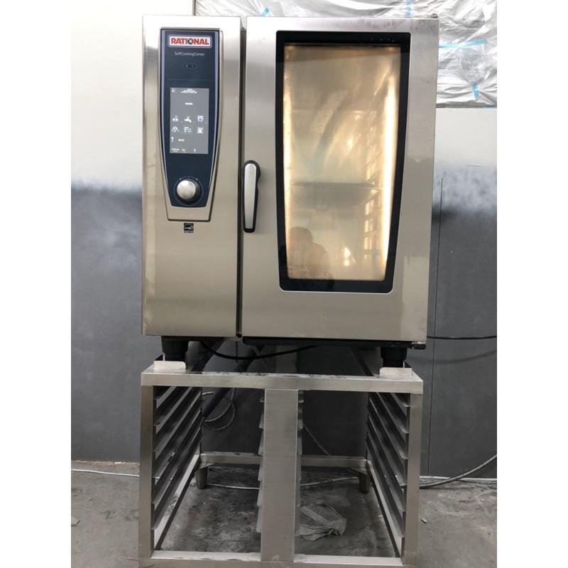 中古RATIONAL德國原裝進口萬能蒸烤箱SCC WE101G 10盤瓦斯型