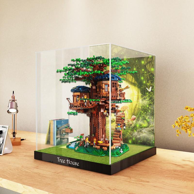 樂高樹屋21318展示盒LEGO積木模型收納盒透明手辦亞克力防塵罩