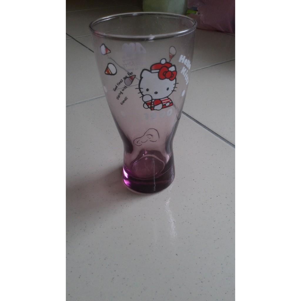 Hello kitty 40周年 經典玻璃曲線杯