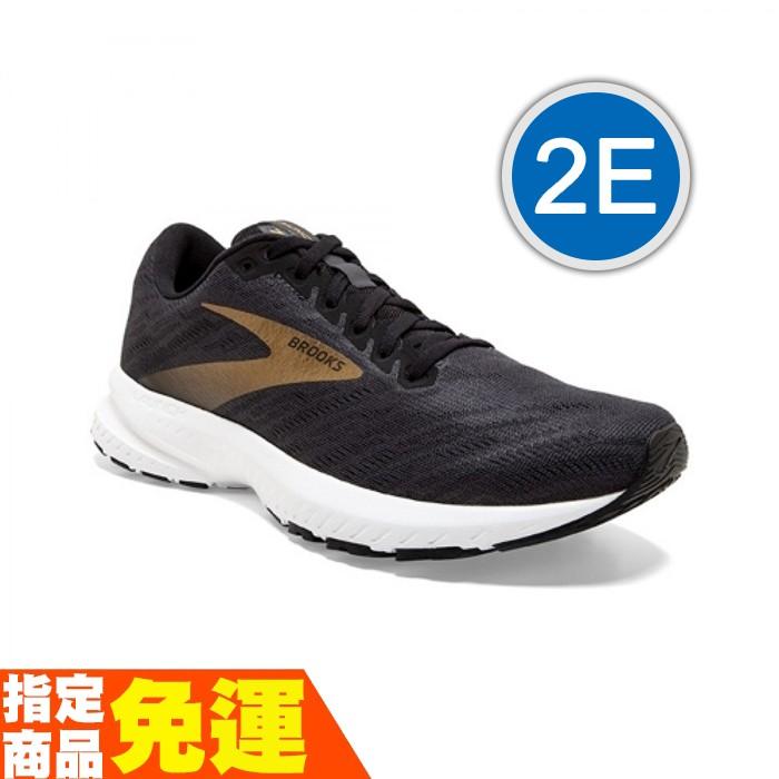 BROOKS 推進加速 男慢跑鞋 平穩 LAUNCH 7 發射系列 黑金 2E 1103242E018 贈1襪 20SS