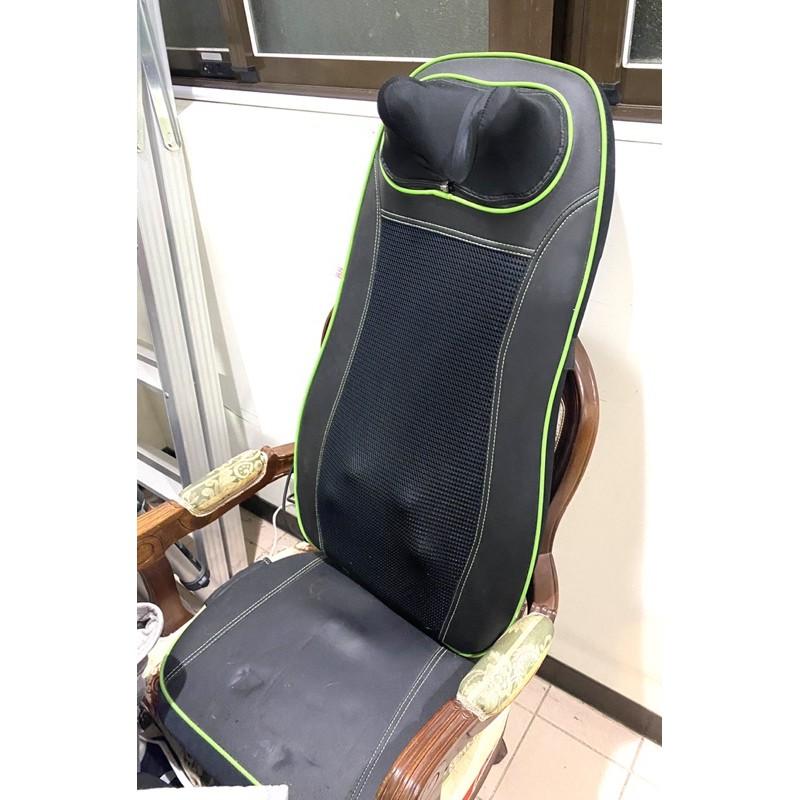 (二手)輝葉按摩椅墊(黑綠)