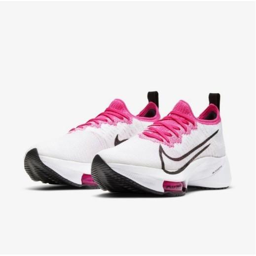 NIKE AIR ZOOM TEMPO NEXT% CI9924-102 慢跑女鞋 白色 桃紅色