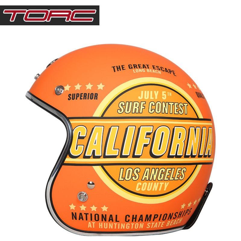 ☑∈◈美國TORC摩托車復古頭盔男女半覆式機車個性夏季半盔安全帽四季