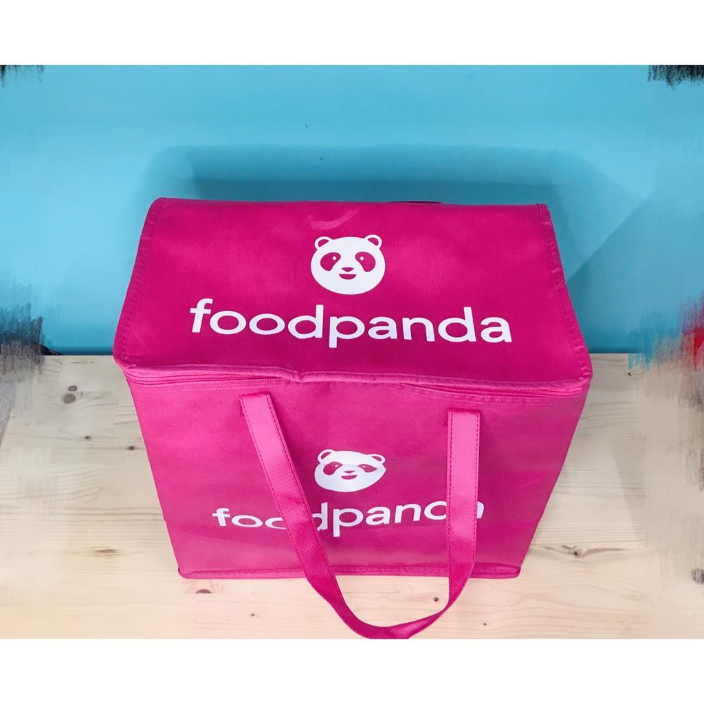 可愛粉紅外送保溫提袋 可折疊 鋁箔內襯 8孔 杯架 ubereats 熊貓 非 保溫袋 foodanda 小箱 小包