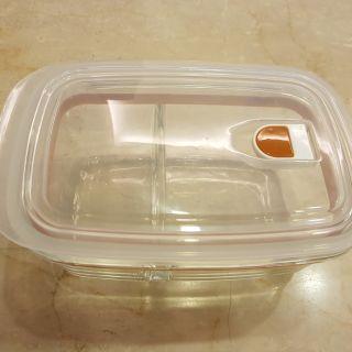 拉拉熊保鮮盒(缺保溫袋) 分隔 玻璃保鮮盒 830ml 新竹縣